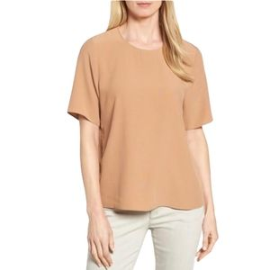 Eileen Fisher Synthetic Tencel Viscose Crepe Top